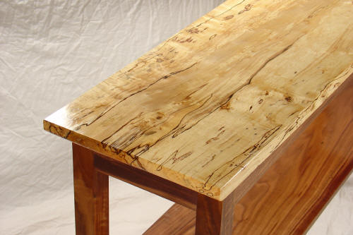 Superb The Legs Sit On Ebonized Feet, Echoing The Black Lines In The Spalted Maple  Top.